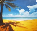 schilderij-tropical-beach