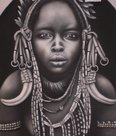 Mursi-woman-schilderij-painting