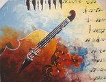 viool-schilderij