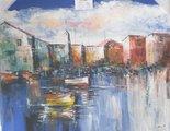 Harbour-view-painting-schilderij